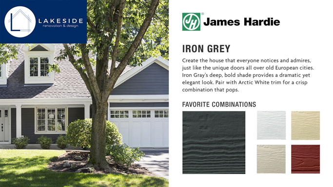 Iron Grey Color Combinations: James Hardie Siding